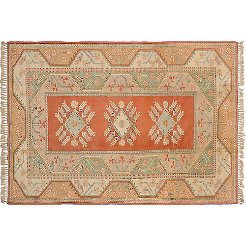 "6'8""x9'7"" Oushak Hand-Knotted Rug, Beige"