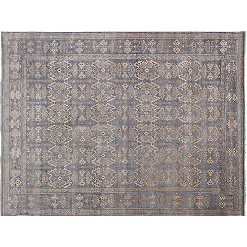 "8'9""x11'9"" Jules Oushak Hand-Knotted Rug, Gray"
