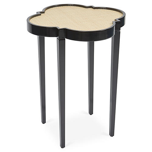 Tini IV Side Table, Black/Natural