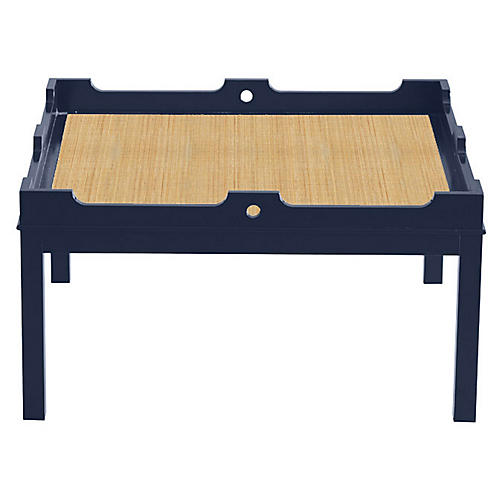 Fairfield Coffee Table, Navy/Natural