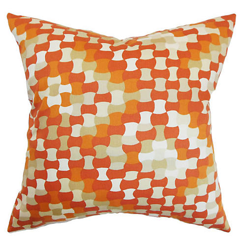 Gaya 18x18 Pillow, Tangerine