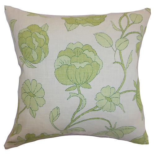 Lalomalava Floral Pillow, Green