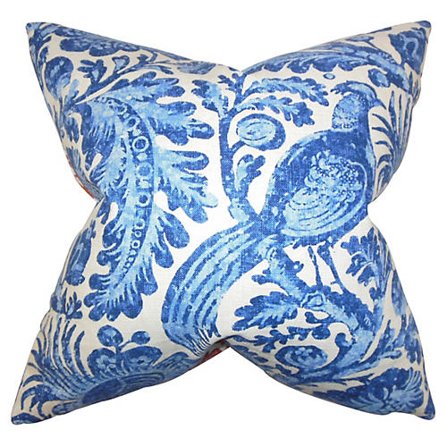 Birds 18x18 Pillow, Blue