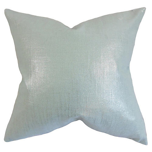 Florin 18x18 Pillow, Baby Blue