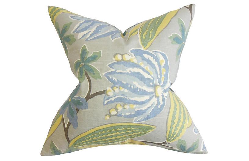 Floral 18x18 Pillow - Rain