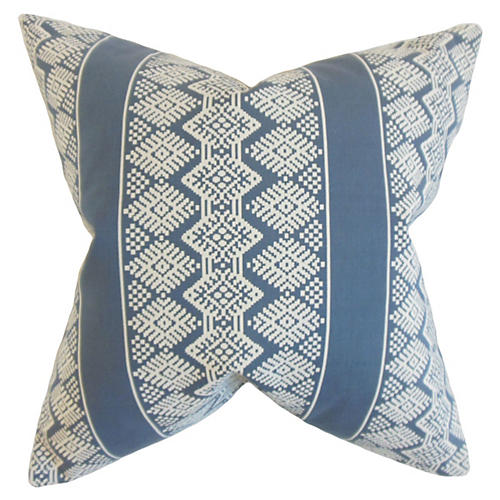 Zadock 20x20 Geometric Pillow, Blue