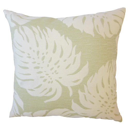 Palm Leaf Outdoor Pillow, Green