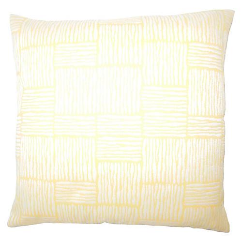 Tread Outdoor Pillow, Yellow