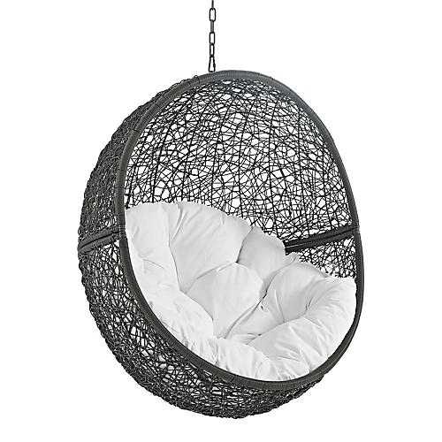 Hide Outdoor Porch Swing, Gray/White