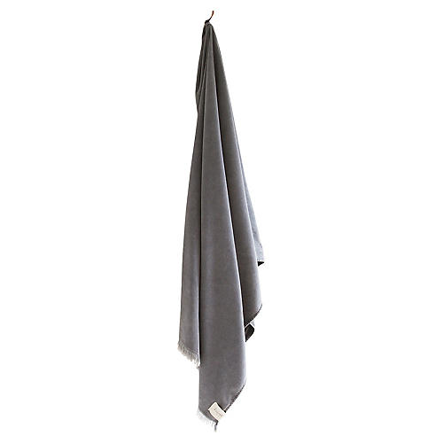 Stonewashed Cotton Bath Sheet, Ash