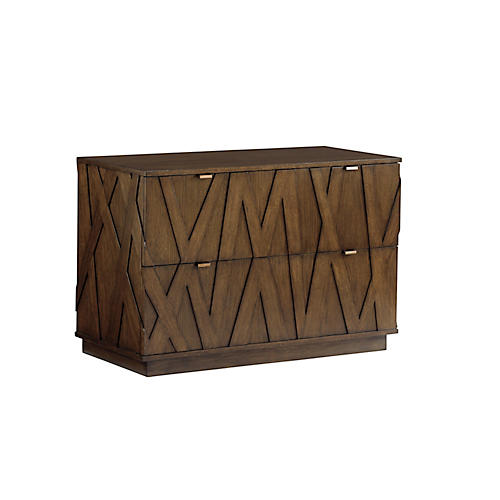 Prism File Cabinet, Mocha