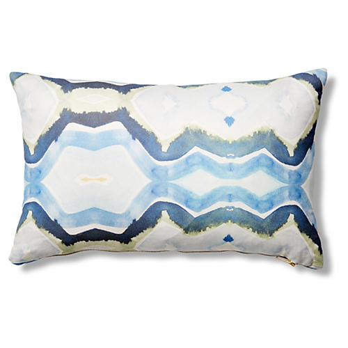 Accra 12x20 Pillow, Ocean Blue
