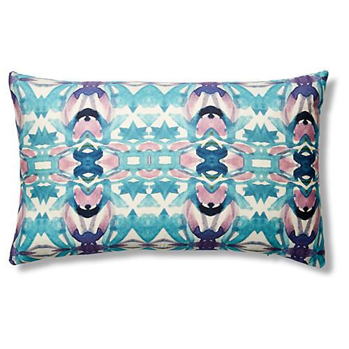 La Pampa 12x20 Pillow, Purple Green