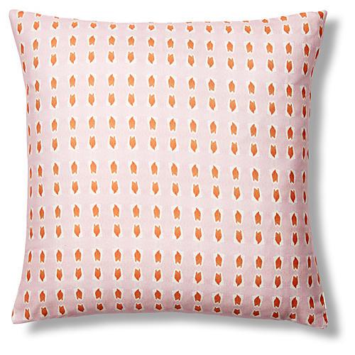 Picos 20x20 Pillow, Pink/Orange