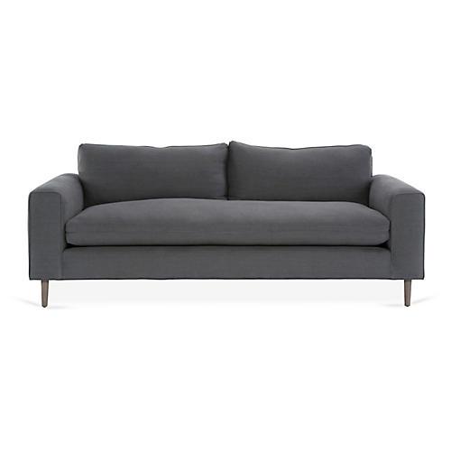 Rumsey Sofa, Charcoal Linen
