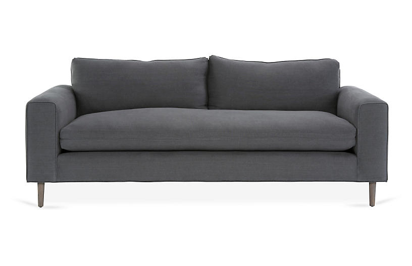 Rumsey Sofa, Charcoal Linen