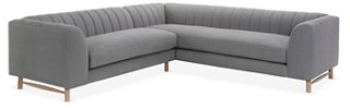 Alden Sectional, Light Gray Linen   One Kings Lane   Brands | One Kings Lane