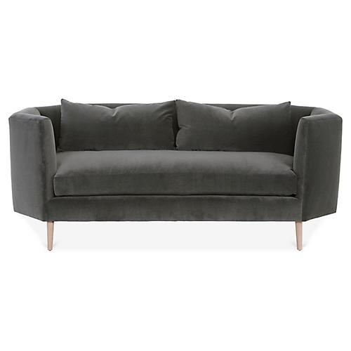 Blythe Sofa, Charcoal Velvet
