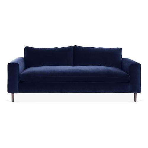 Rumsey Sofa, Navy Velvet