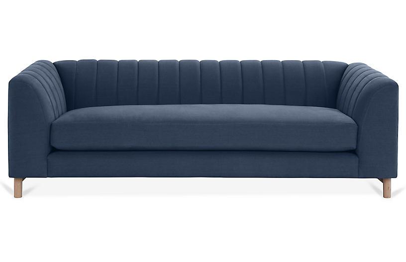 Alden Sofa, Navy Linen