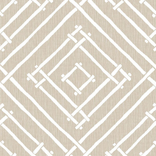 Chez Bamboo Madcap Cottage Wallpaper, Linen