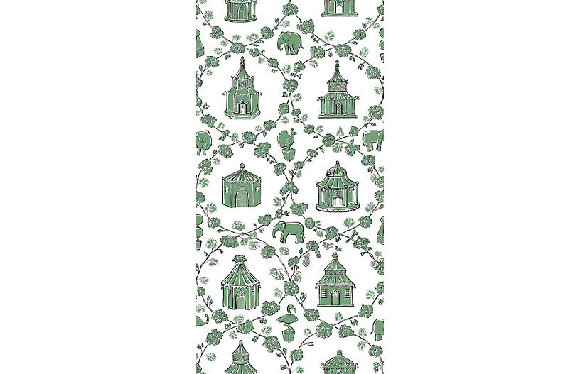 Into the Garden Madcap Cottage Wallpaper, Moss