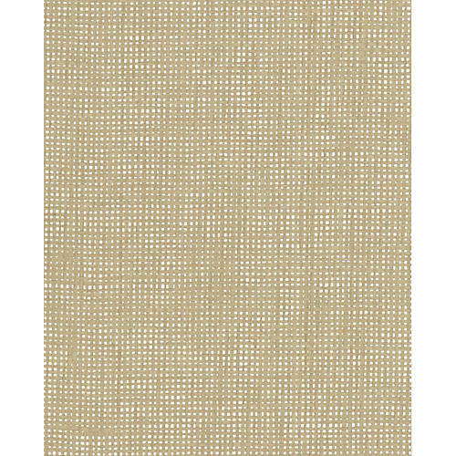Crosshatch Woven Wallpaper, Beige