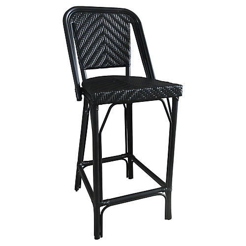 Bistro Outdoor Barstool, Black
