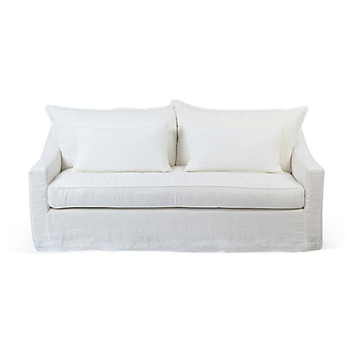 Darcy Linen Sofa, Oyster
