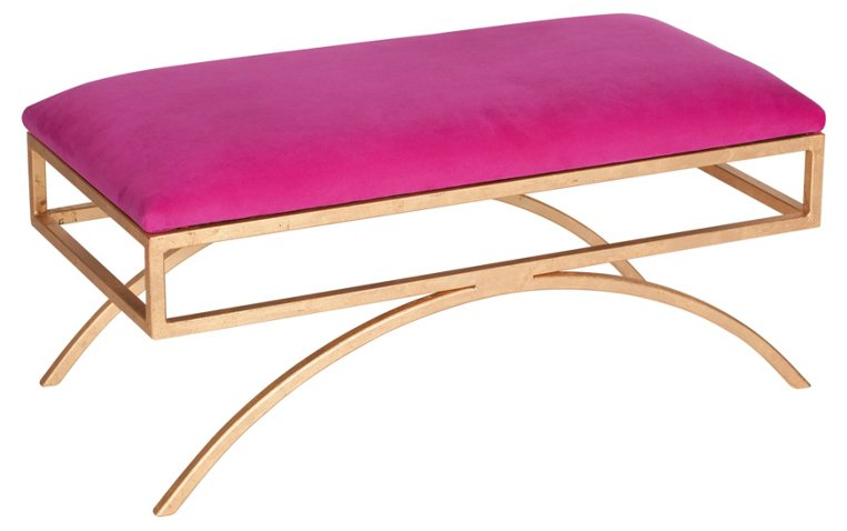 Troy Velvet Bench, Pink - Benches - Living Room - Furniture | One ...