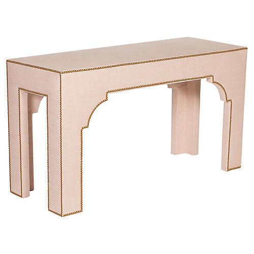Drew Parsons Console, Old Rose Linen