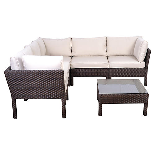 Infinity 6-Pc Wicker Patio Set, Espresso