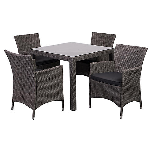 Liberty 5-pc Patio Dining Set, Gray
