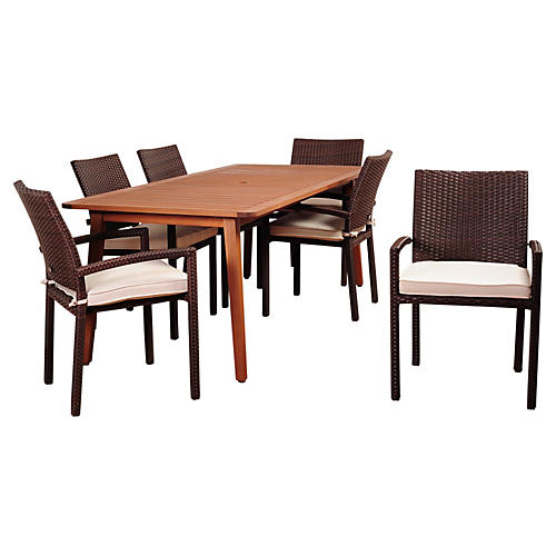 Hollywood Eucalyptus 7-PC Dining Set