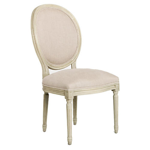 Octavia Side Chair, White/Ivory