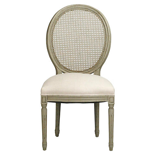 Medallion Cane Side Chair