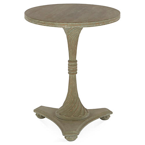 Ronan Side Table, Distressed Gray