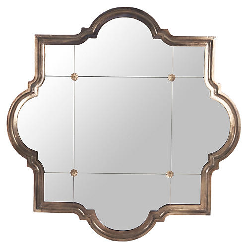 Harris Oversize Mirror, Bronze