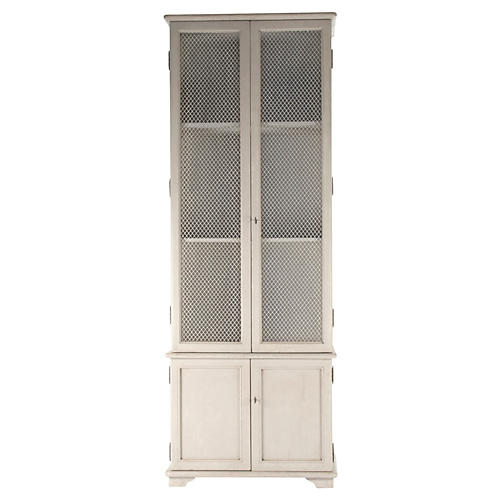 "Ivo 92"" French Country Cabinet, White"