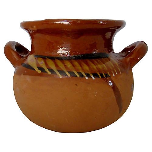 Mexican Raw & Glazed Ceramic Pot