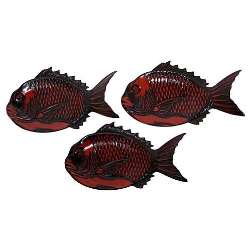 Japanese Fish Plates, S/3