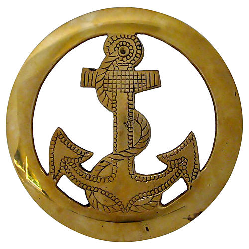 Brass Anchor Wall Mount