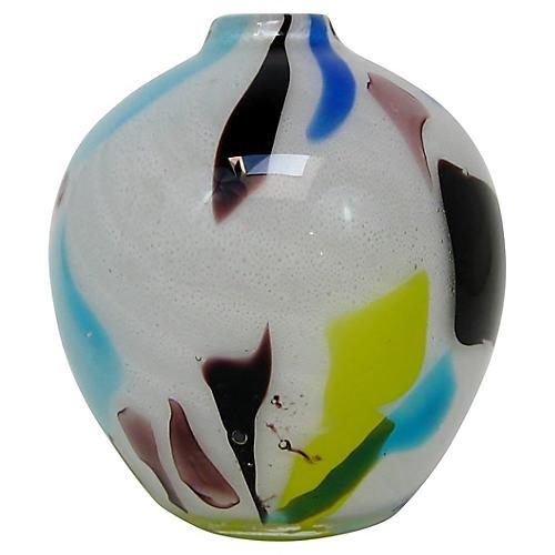 Murano Multicolored Glass Vase