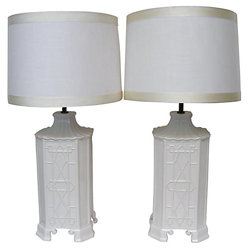 Chinoiserie Lamps by Chapman, S/2