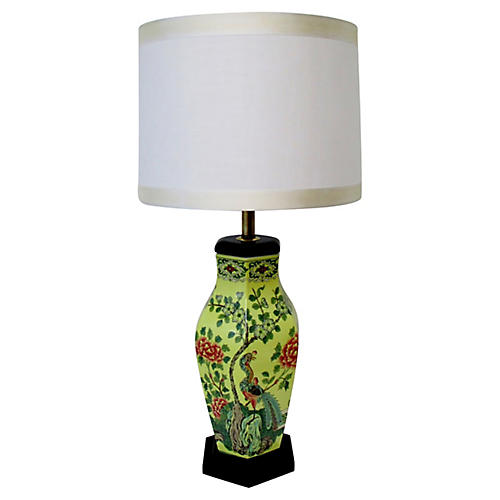 Yellow Chinoiserie Table Lamp