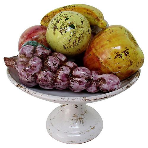Italian Ceramic Fruit Compote