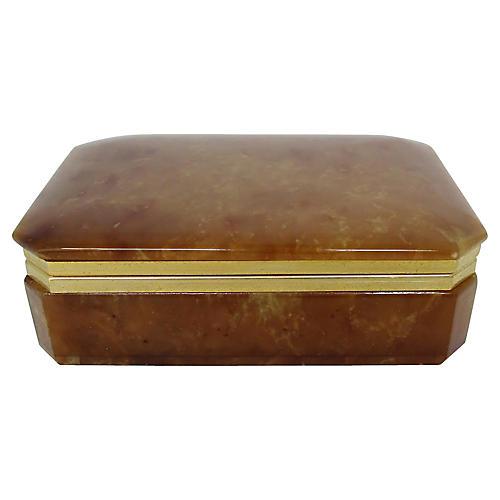 Italian Brown Stone Box