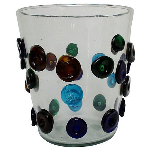Blown Glass Ice Bucket