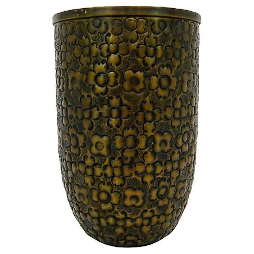 Embossed Bronze Vase
