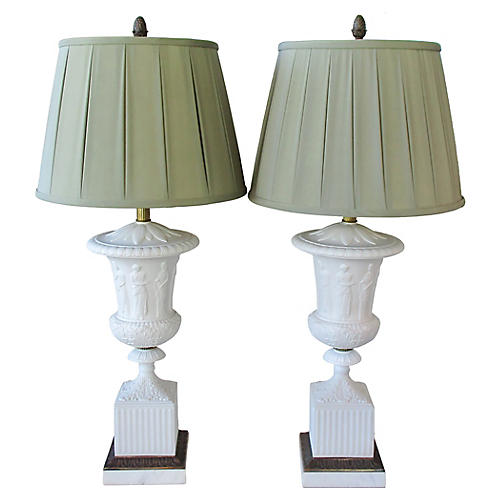 Monumental Paul Hanson Lamps, Pair